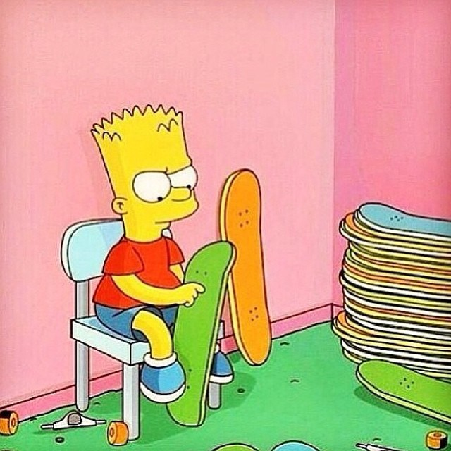10838323 594482967352071 1308241059 n - Bart Simpson has a tough decision every morning. Which board to set up. #Shralpi...