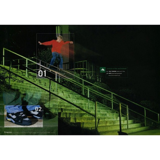 11117080 938192319559509 1059169745 n - #TBT when @ToshTownend feebled #ElToro for @emerica in 2001  #Shralpin #SkateEve...