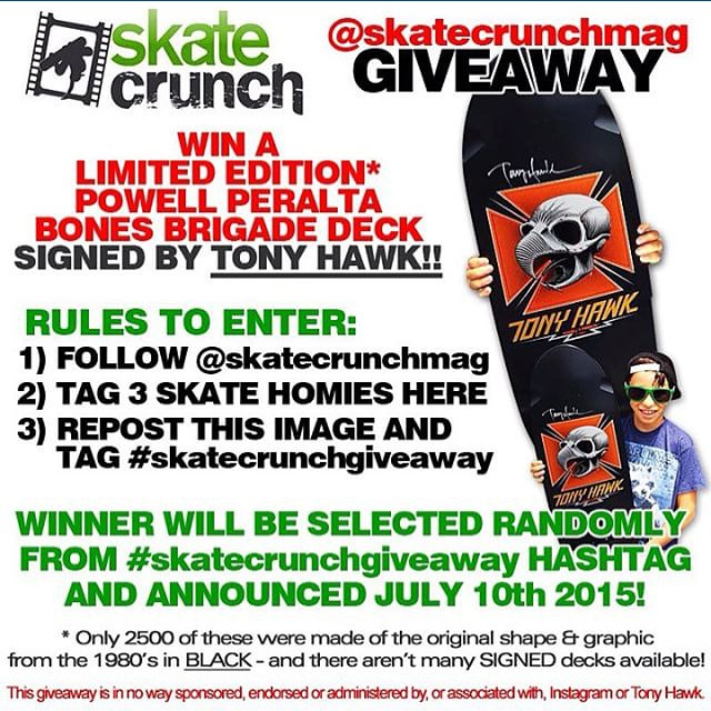 11349237 1605286456426449 255510740 n - This is one of the dopest giveaways ever...win a signed @TonyHawk #PowellPeralta...