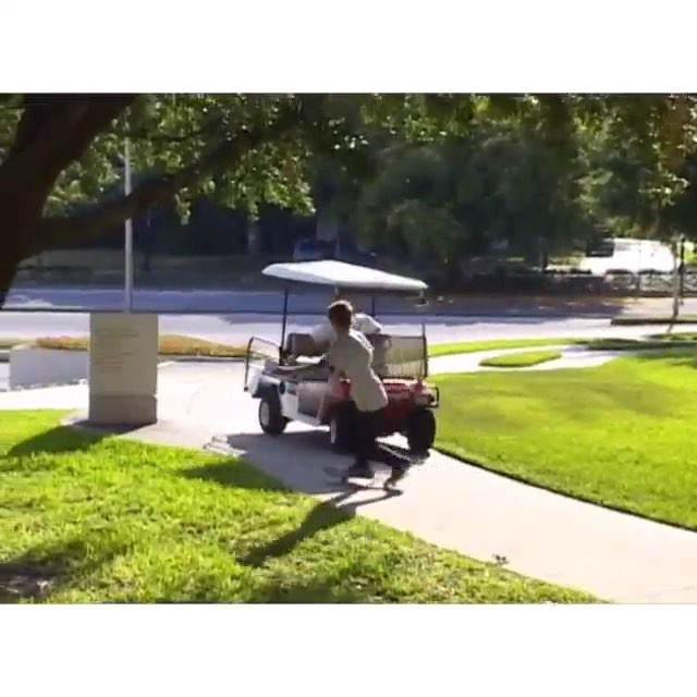 12224420 1704635326438890 626772474 n - Cutting it close with @blakecarpenter and an angry man on a golf-cart. : @tjgask...