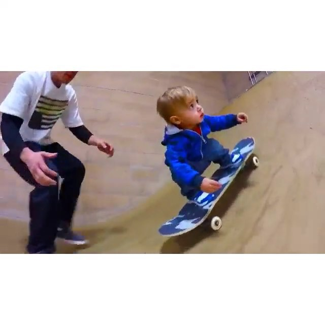 12317355 780272845452261 1304657918 n - Skating at only 13 months young with the help of @anthonyriviera...