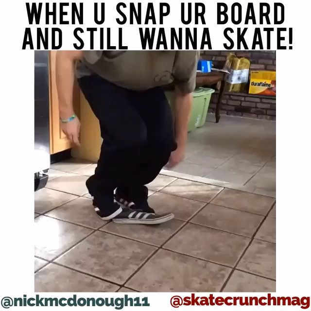 12356580 653861208087389 2061753306 n - When u snap ur board and still wanna skate! @nickmcdonough11  Repost from @skat...
