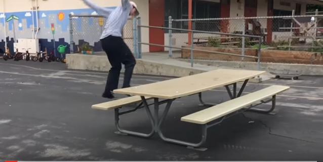 Keegan bigspin over table