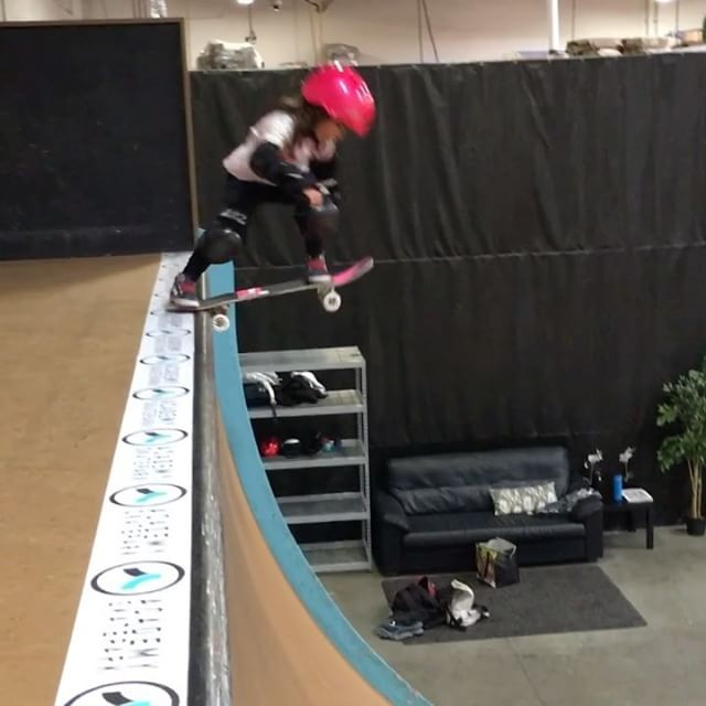 "16583790 215041565628355 1147320278842343424 n - ""NBD drop in on vert by 4 year old, Teagan Meza (@3mezagroms). We are so proud y..."