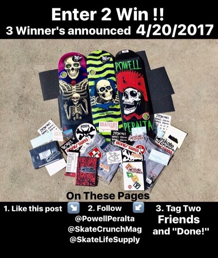 17663314 1438826852858387 2587025554486067200 n - Win a prize pack from @powellperalta today!  Follow @powellperalta & @skatelifes...