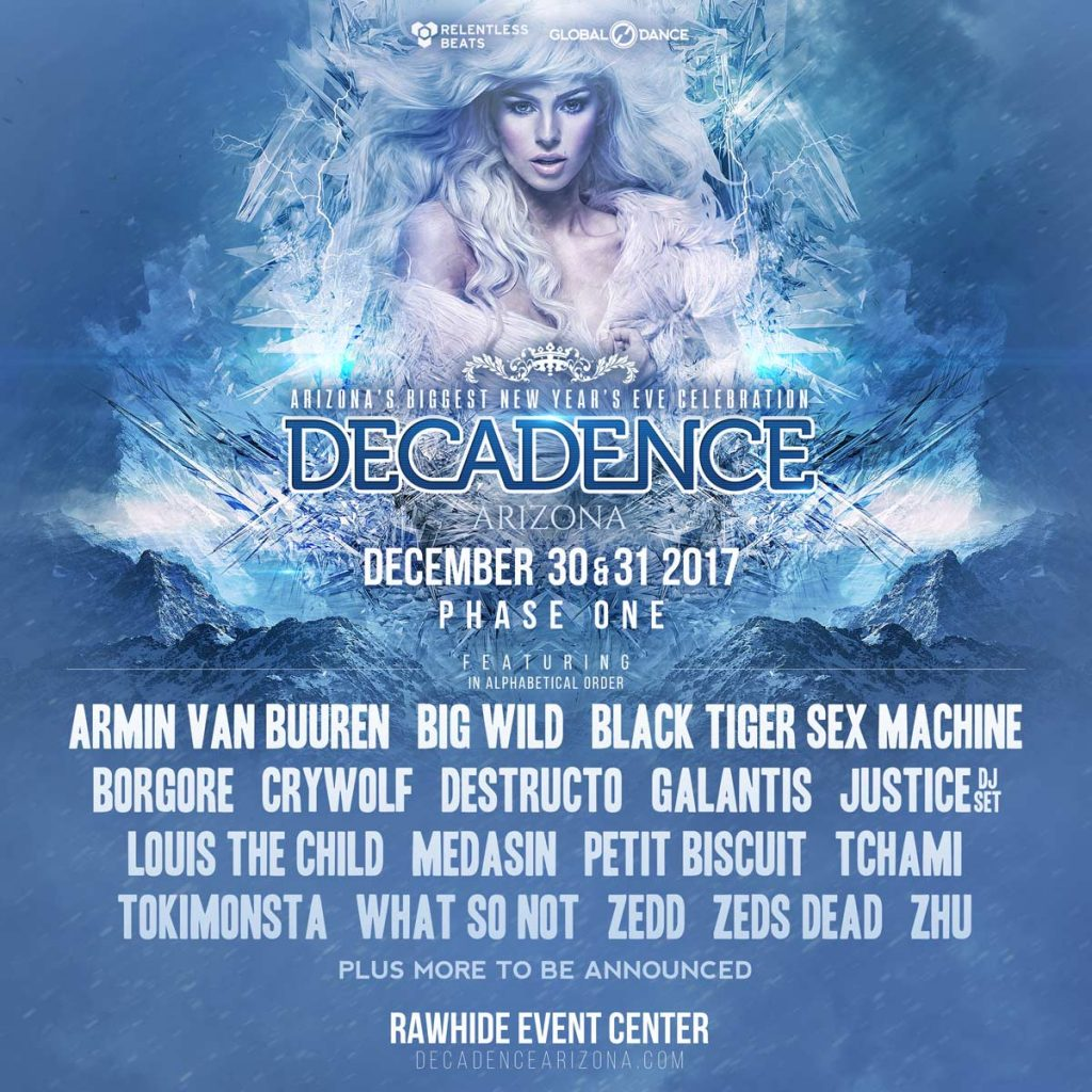 Decadance Arizona 2017 1024x1024 - Relentless Beats Announces Final Lineup For Decadence Arizona, December 30 & 31, 2017