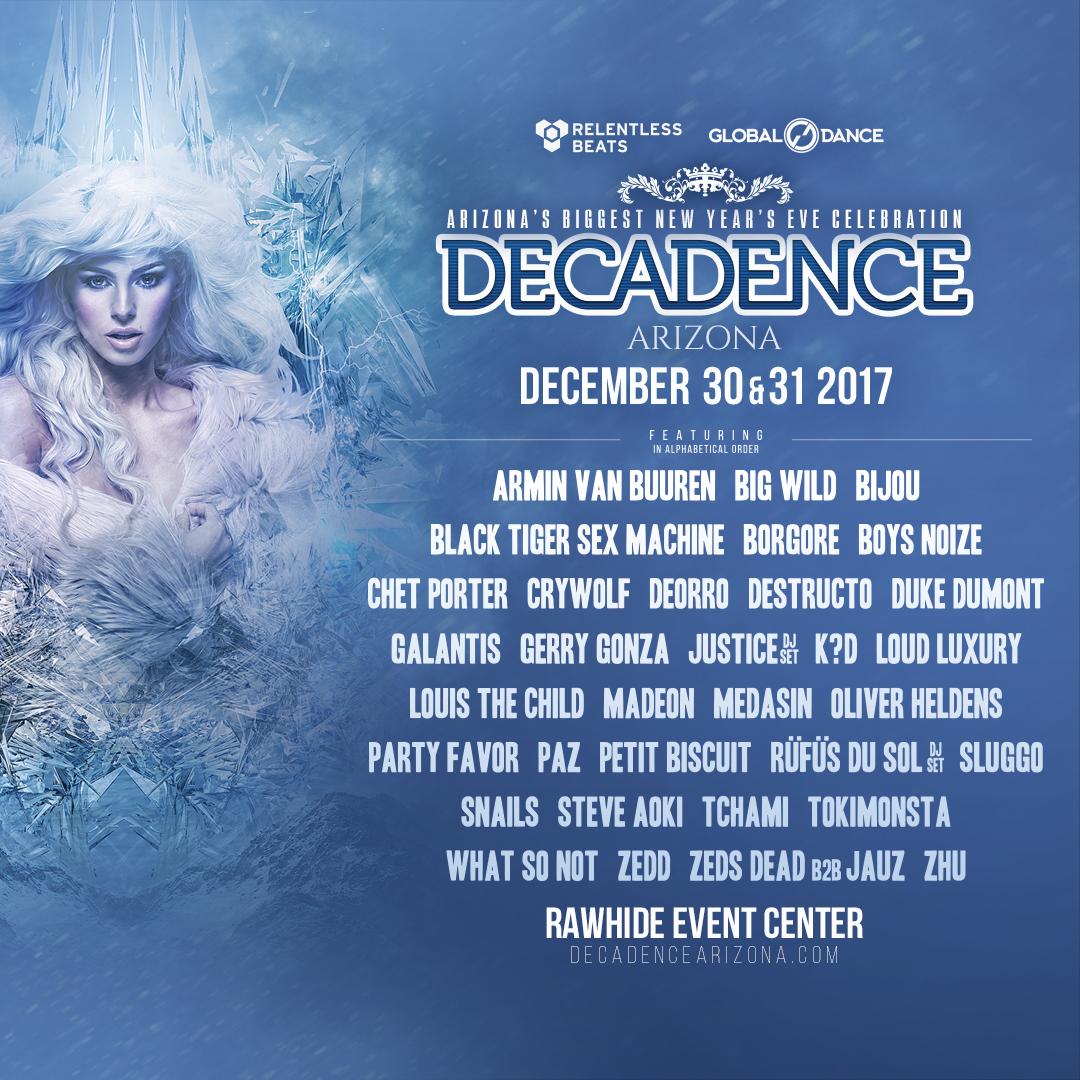 Decadance Arizona Festival 2017 - Decadence Arizona 2017 Lineup