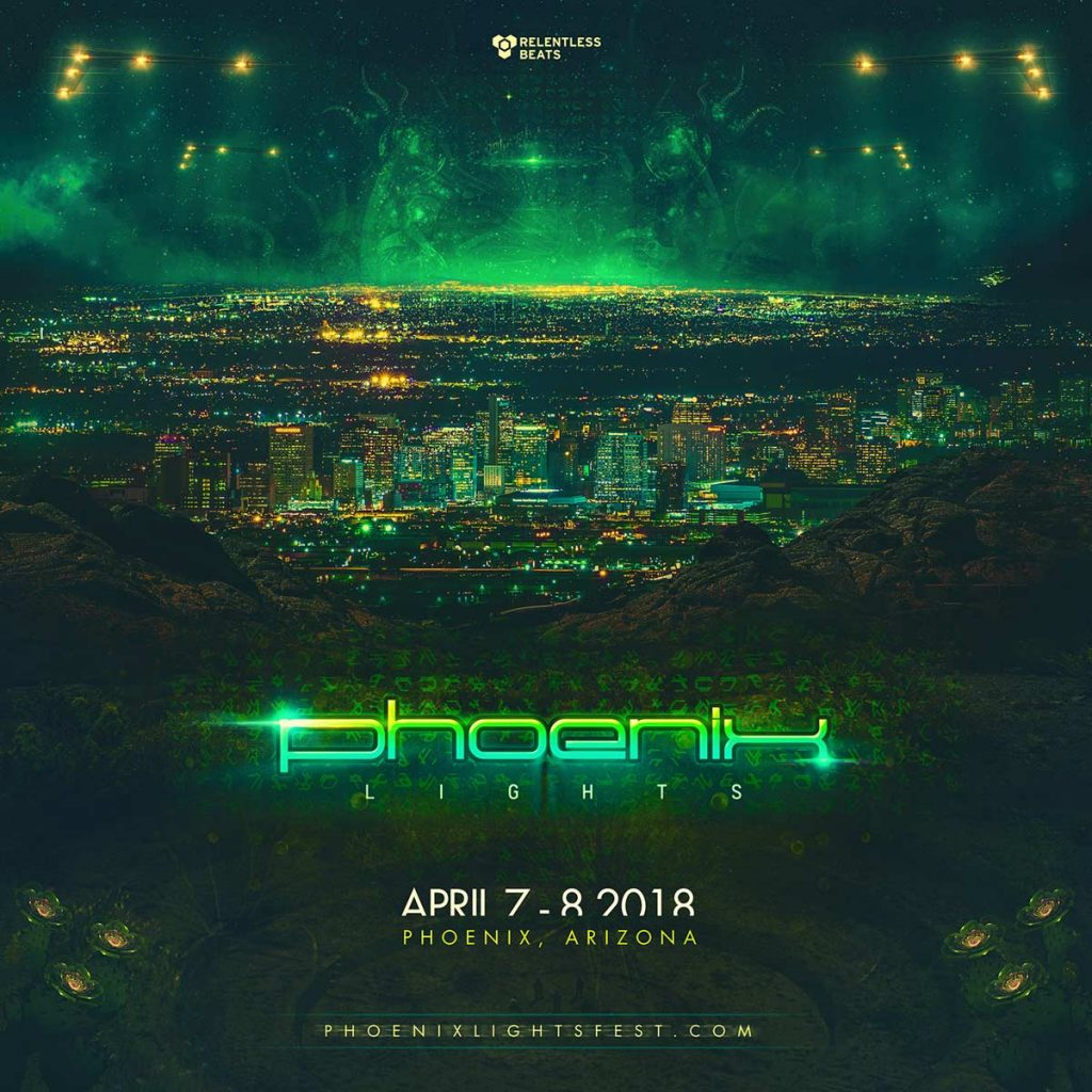 Phoenix Lights Festival 2018 Lineup 1024x1024 - Fourth Annual Phoenix Lights Festival Invades The Park At Wild Horse Pass, April 7 - 8, 2018