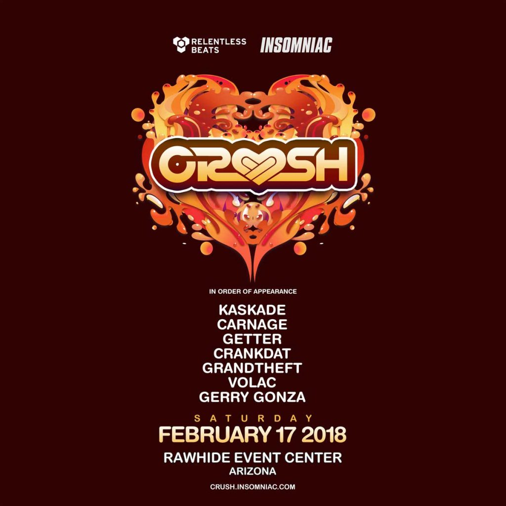 Crush 2018 Festival 1024x1024 - The Return Of Crush Arizona: February 17, 2018