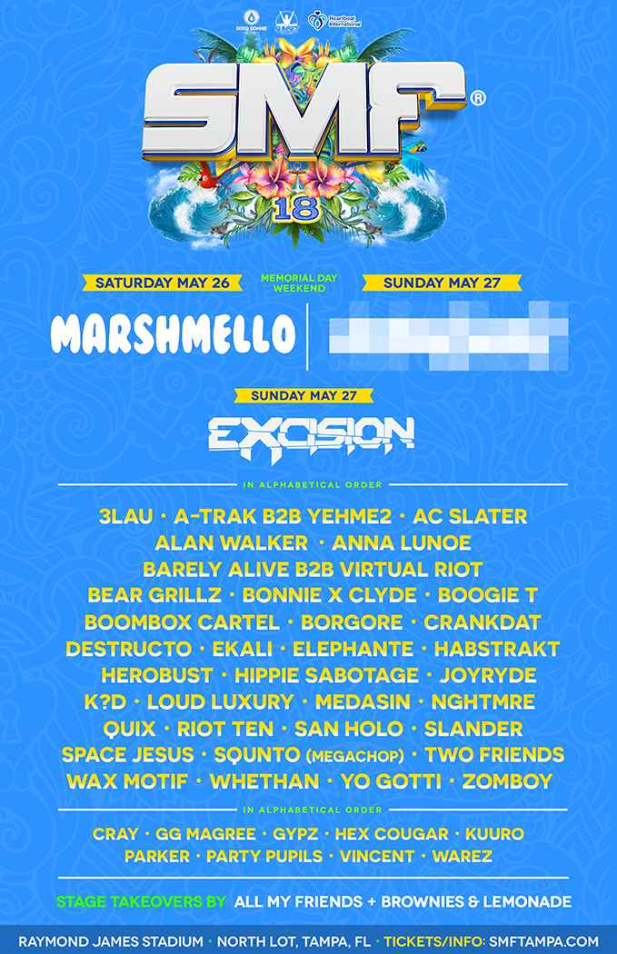 SMF Sunset Music Festival 2018 Lineup - Sunset Music Festival 2018 Lineup