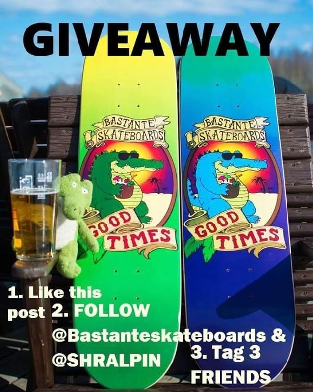 30922168 618419341824656 5948422541230997504 n - GIVEAWAYEnter to win this setup from @bastanteskateboards!  To Enter: 1. Like th...