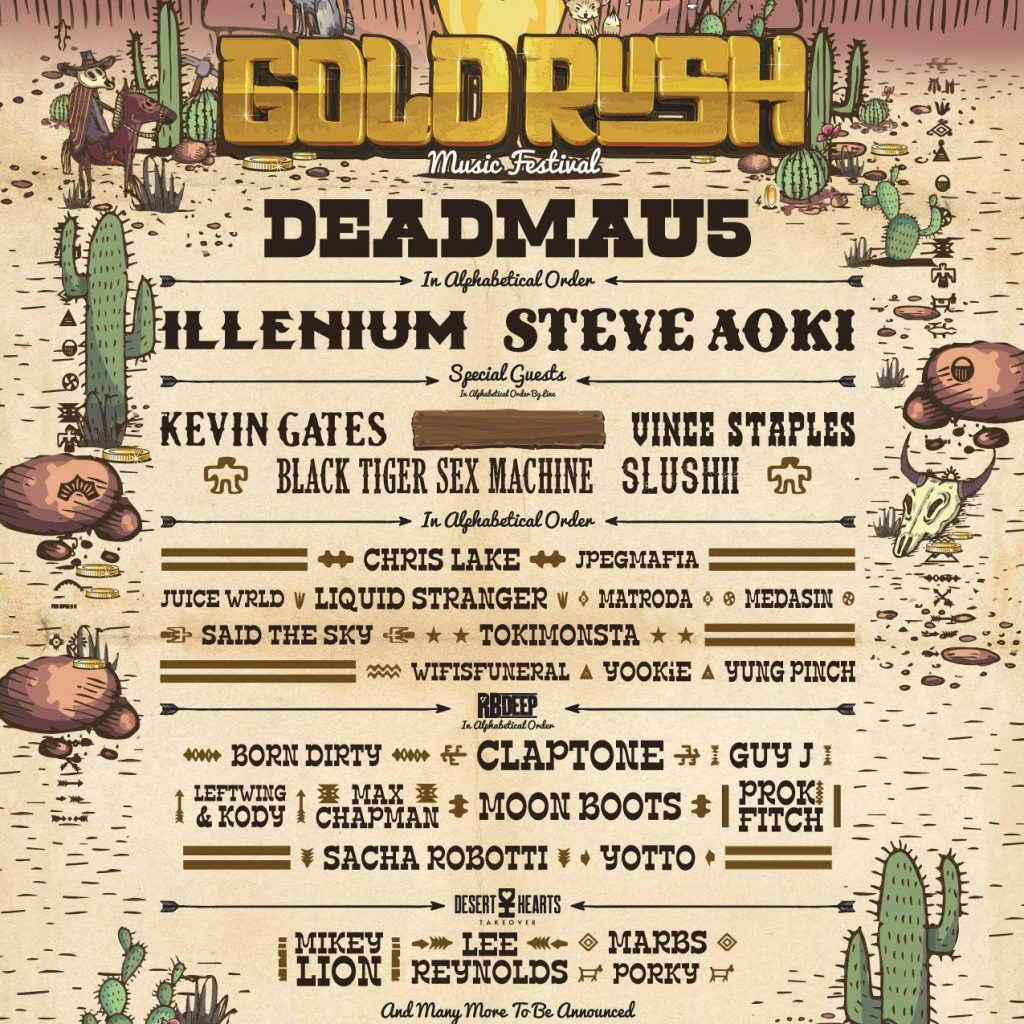 Goldrush Releases First Round Lineup Joining Headliners