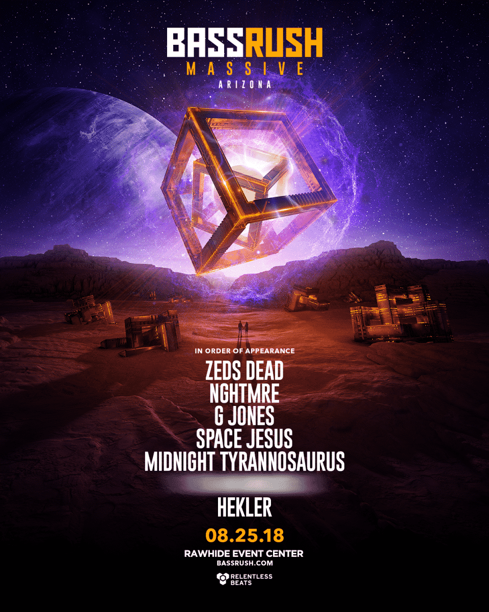 Bassrush Massive Arizona 2018 - Relentless Beats Annnouces Bassrush Massive Arizona, August 25, 2018