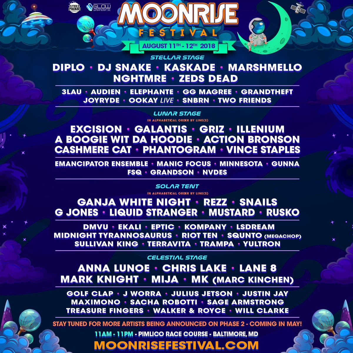 Moonrise Festival 2018 Lineup - Tunes to Get You Hyped for Moonrise Festival 2018