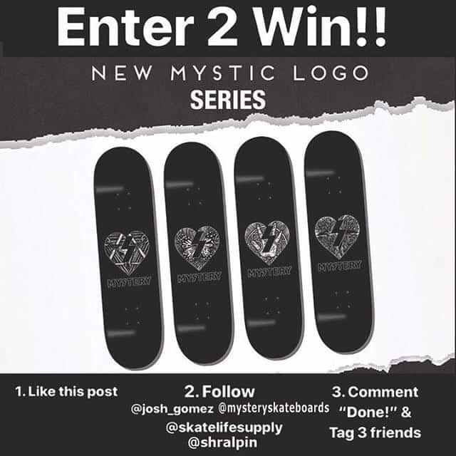 41726969 513092149102697 2697792003551776832 n - Enter to win a @MysterySkateboards Series from @skatelifesupply and @shralpin th...