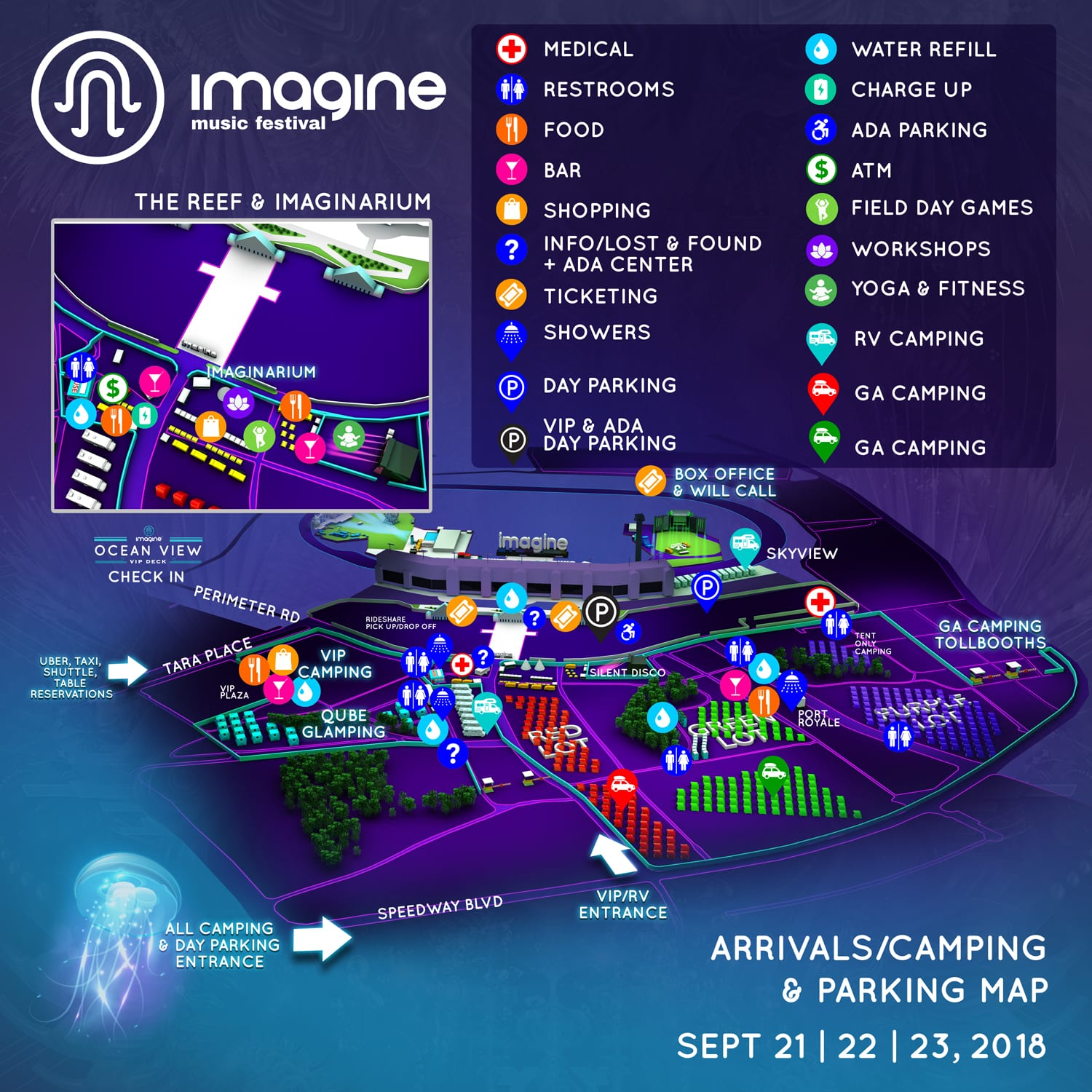 Imagine Music Festival 2018 Camping Map - Imagine 2018 Festival & Camping Map