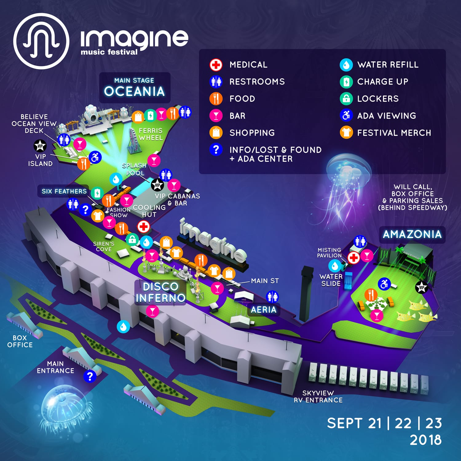 Imagine Music Festival 2018 Map - Imagine 2018 Festival & Camping Map