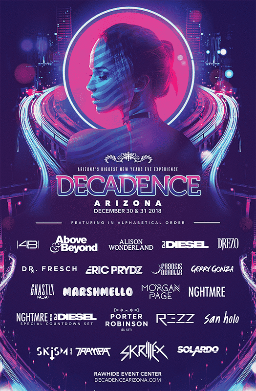 Decedance Arizona 2018 Lineup