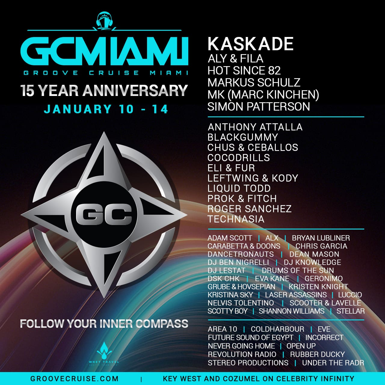 Groove Cruise Miami 2019 - Groove Cruise Miami 2019 Celebrates 15th Anniversary & Announces Phase I Lineup Feat. Kaskade, Aly & Fila, Hot Since 82, Mk, Markus Schulz, Simon Patterson + More!