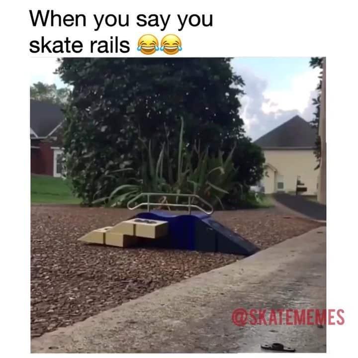 45819363 150208175953257 3331395365053645192 n - Tag someone who can't skate rails  via @skatememes...
