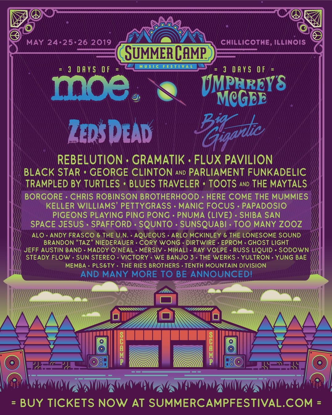 Summer Camp Music Festival Lineup 2019