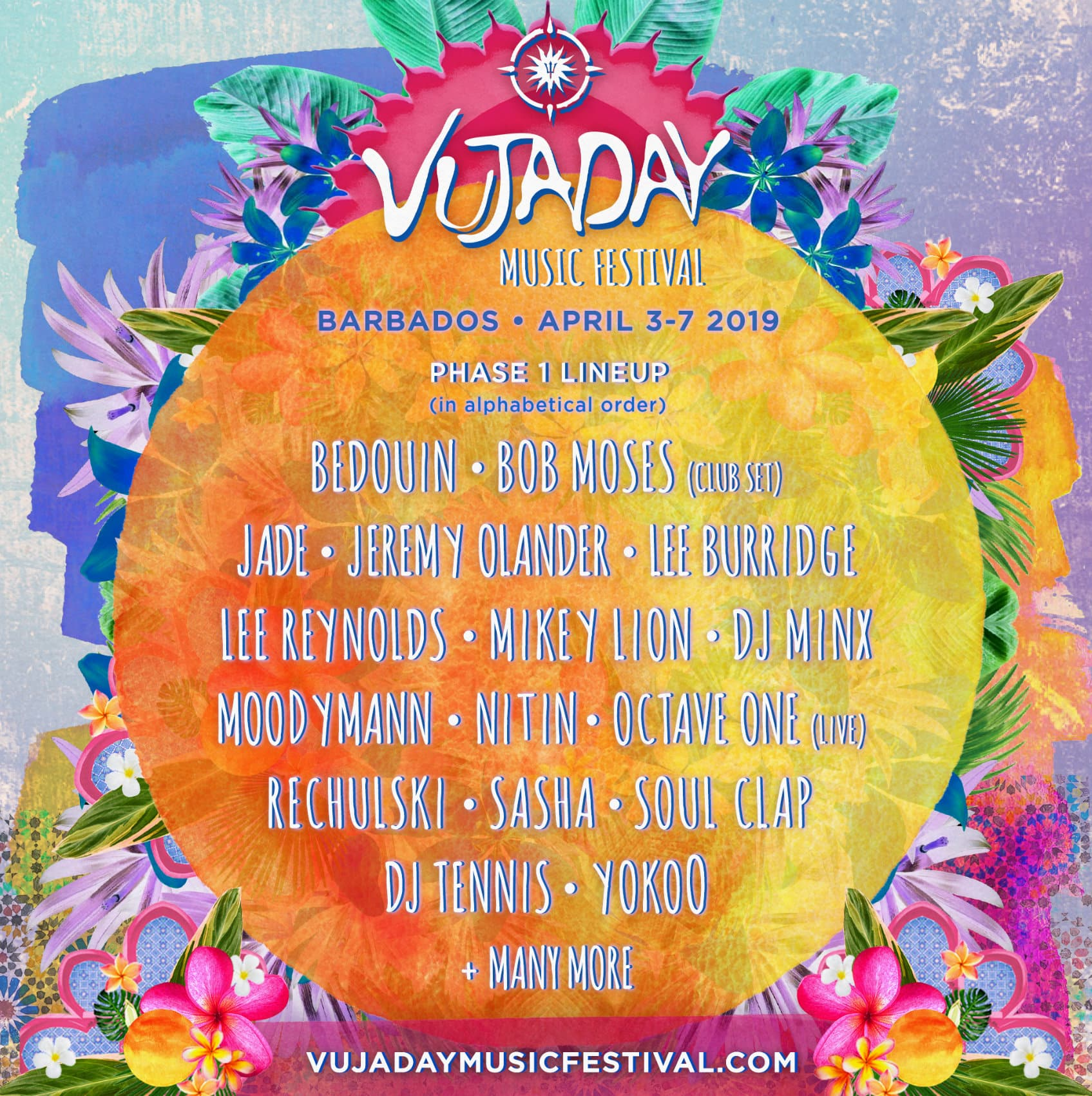 Vujaday 2019 - Vujaday Music Festival In Barbados Announces Sasha, Bob Moses, Lee Burridge, Jeremy Olander, Moodymann, DJ Tennis, Octave One And More For 2019 Edition