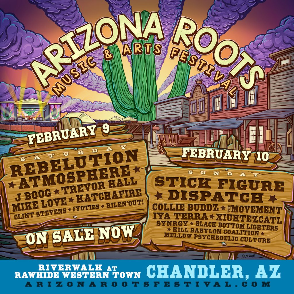 AZ Roots 2019 Day Breakdown 1024x1024 - The Inaugural Arizona Roots Music & Arts Festival Announces Single Day Lineup With Single Day Tickets Now On Sale