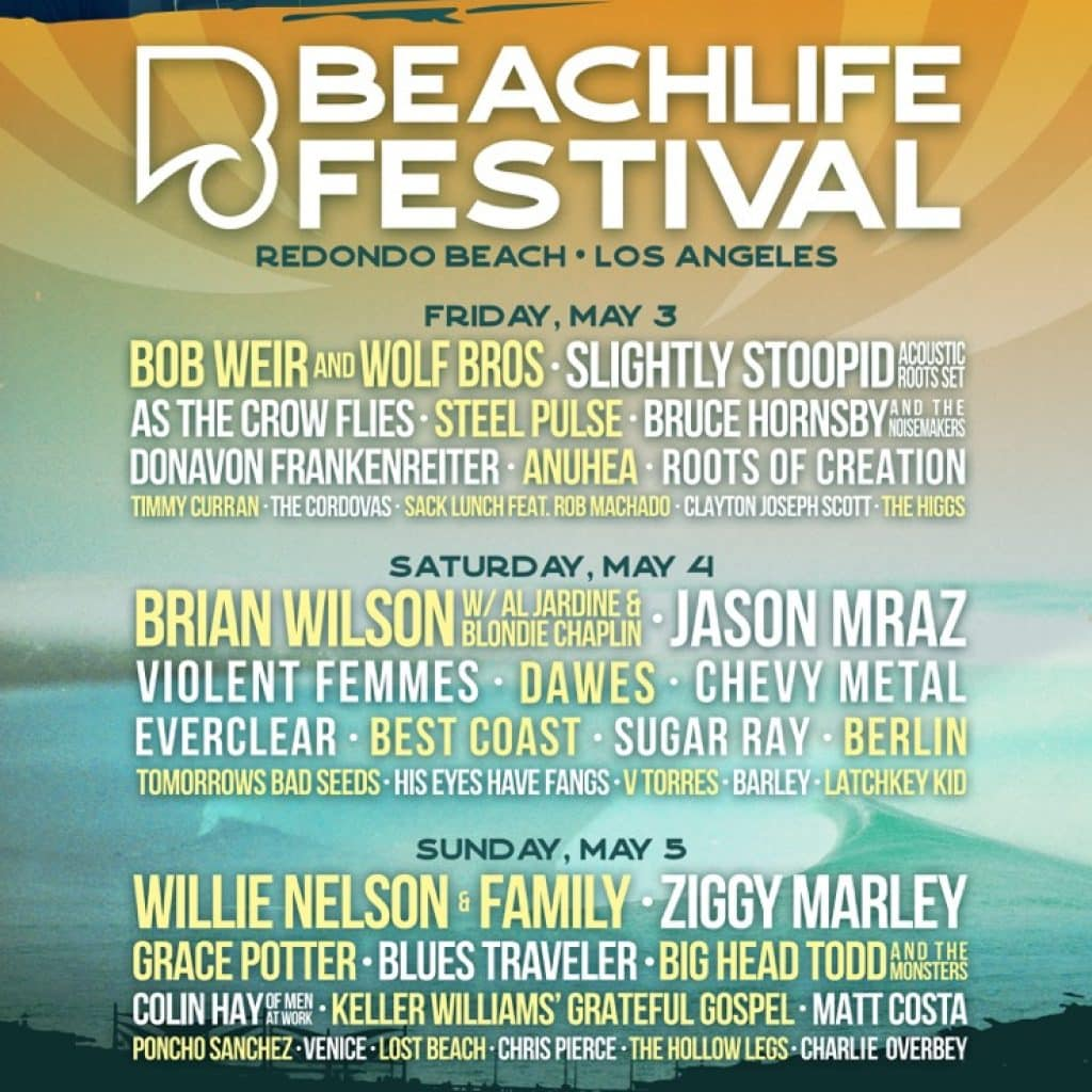 BeachLife Announcement 2 1024x1024 - Beachlife Festival Has Added Jason Mraz, Slightly Stoopid, Dawes, Big Head Todd And The Monsters, Tomorrow's Bad Seeds, And Anuhea To Its 2019 Lineup