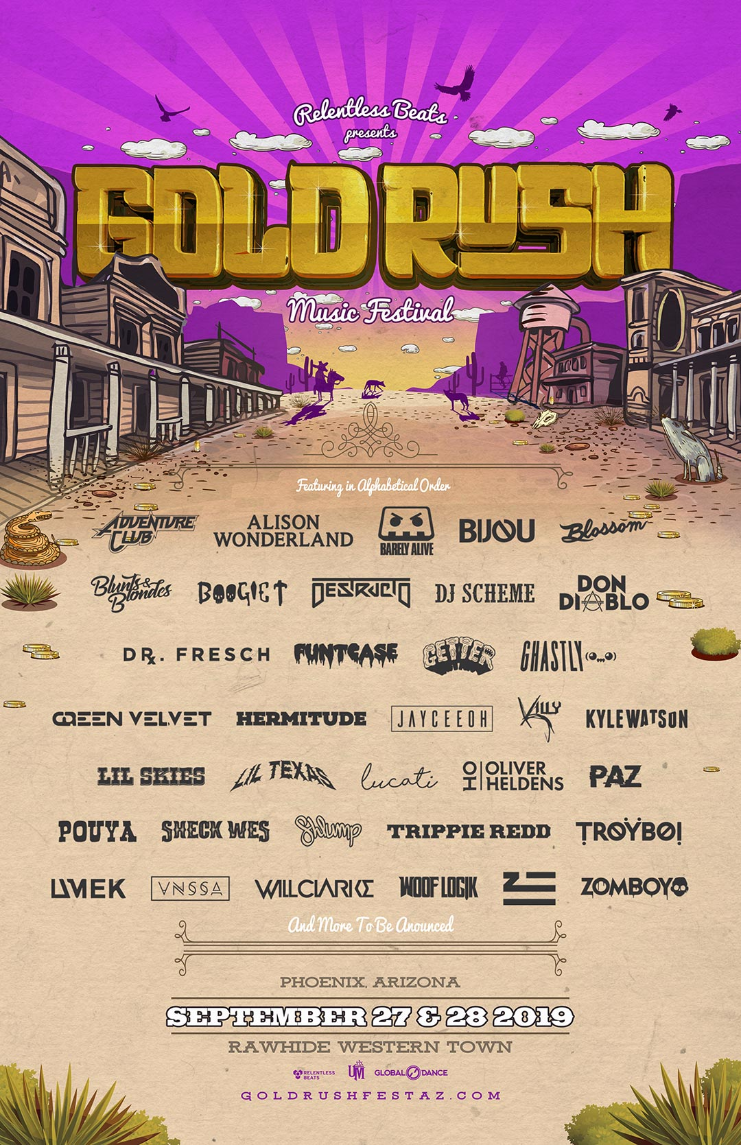 Goldrush 2019 Lineup Phase 2 - Goldrush Digs Deep On Second Round Lineup For Third Annual Festival, September 27 And 28, 2019