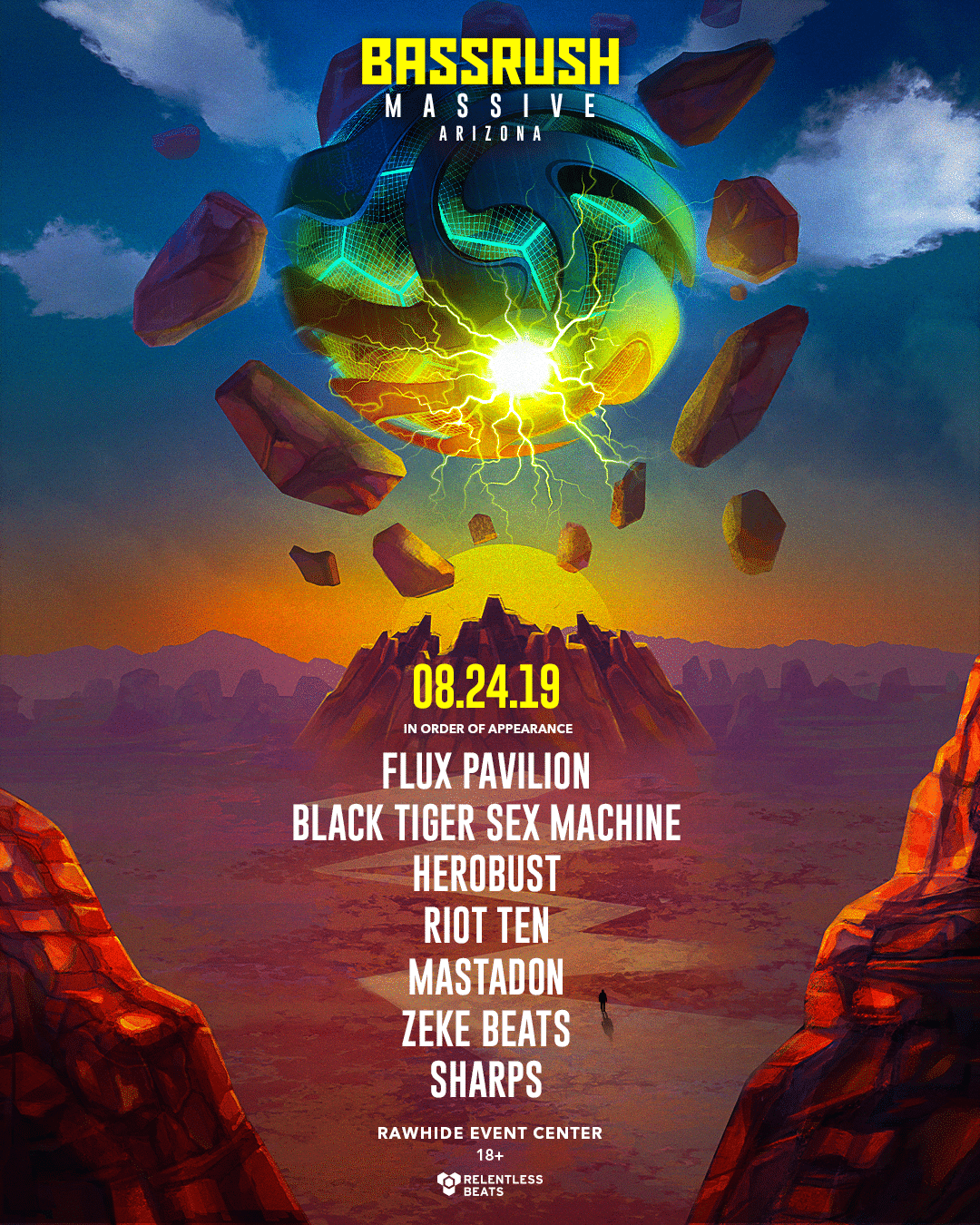 Relentless Beats Announces Bassrush Massive Arizona - Relentless Beats Announces Bassrush Massive Arizona, August 24, 2019