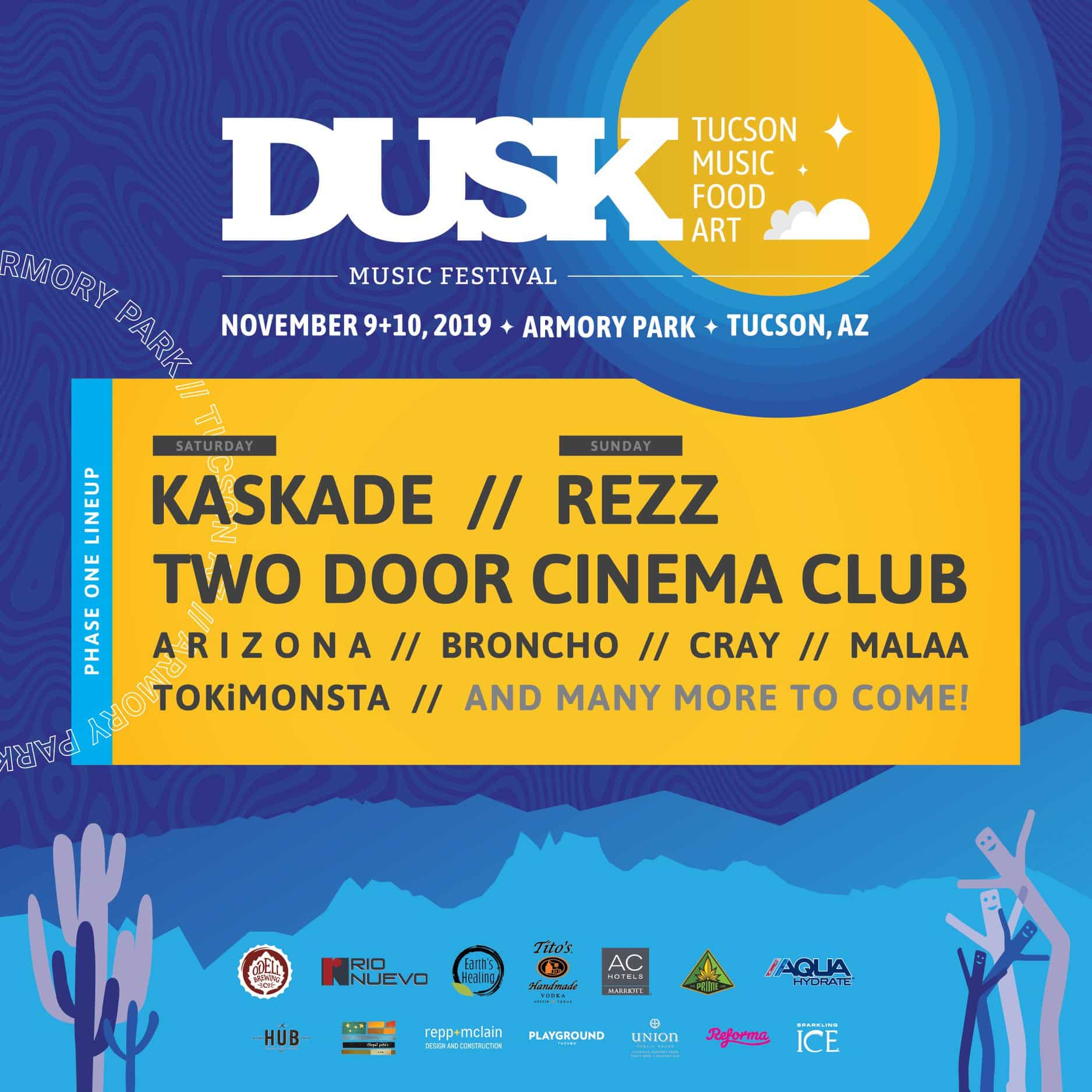 Dusk Music Festival 2019 Lineup - Fourth Annual Dusk Music Festival Returns To Tucson, November 9 & 10, 2019
