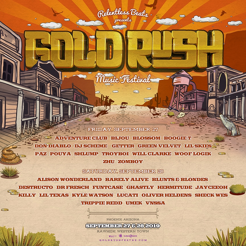 Gold Rush Arizona 2019 - Goldrush Music Festival Announces Artist-by-day Lineup For Third Annual Festival, September 27 And 28, 2019