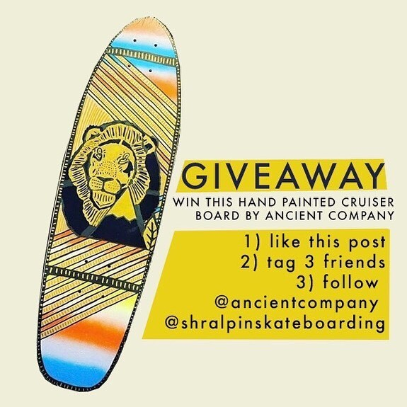 70509694 1300141536819618 116196741179312734 n - GIVEAWAY  Enter to win this handpainted cruiser deck from our friends @ancientc...