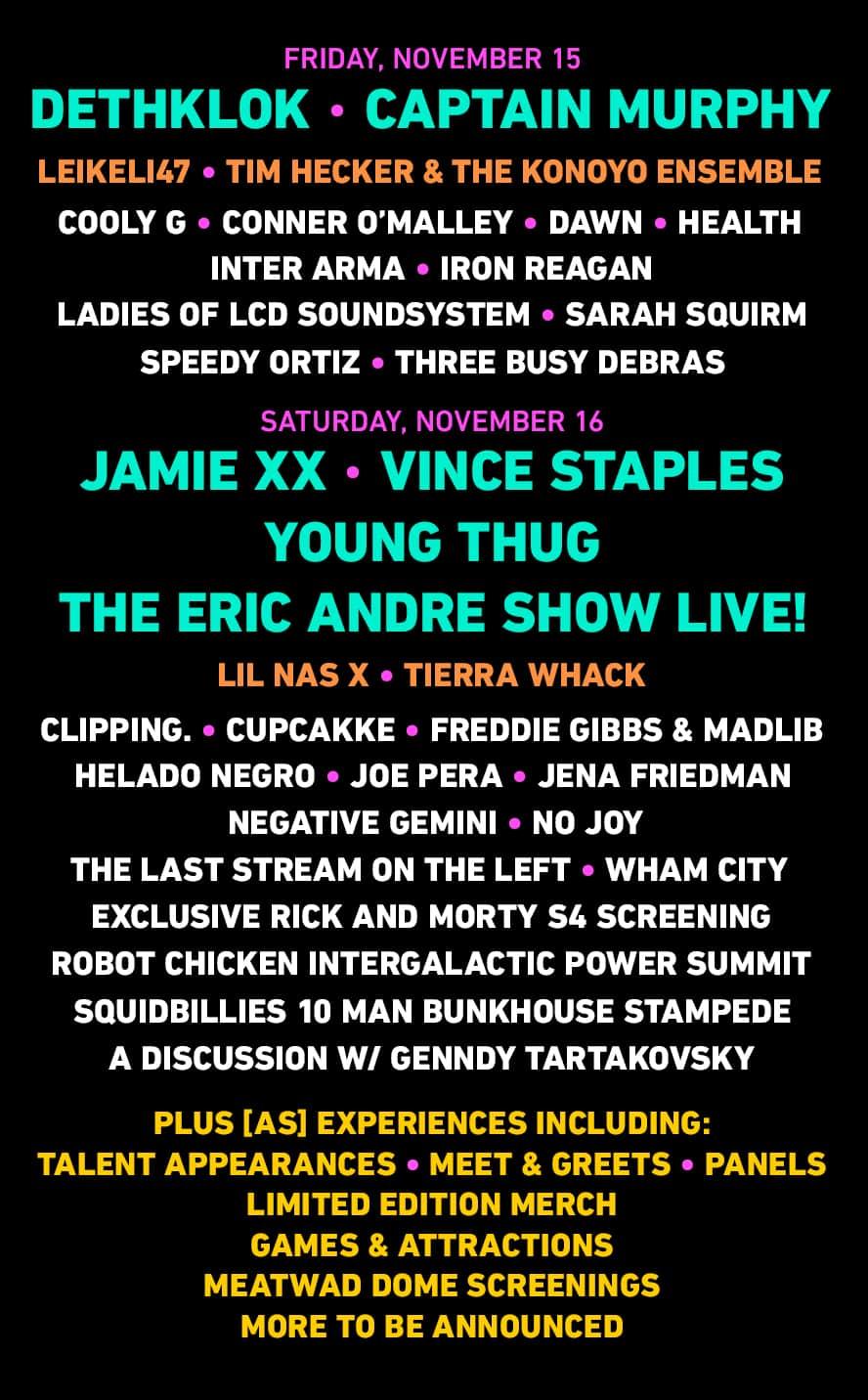 Adult Swim Festival 2020 - ADULT SWIM FESTIVAL  November 15 & 16 @ Banc of California Stadium