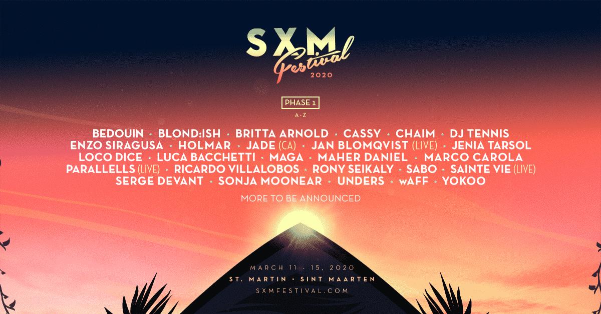 SXM Festival 2020 Lineup  - SXM Festival Announces Phase One Lineup for March 11-15 Event on Caribbean Island of Saint Martin/Sint Maarten