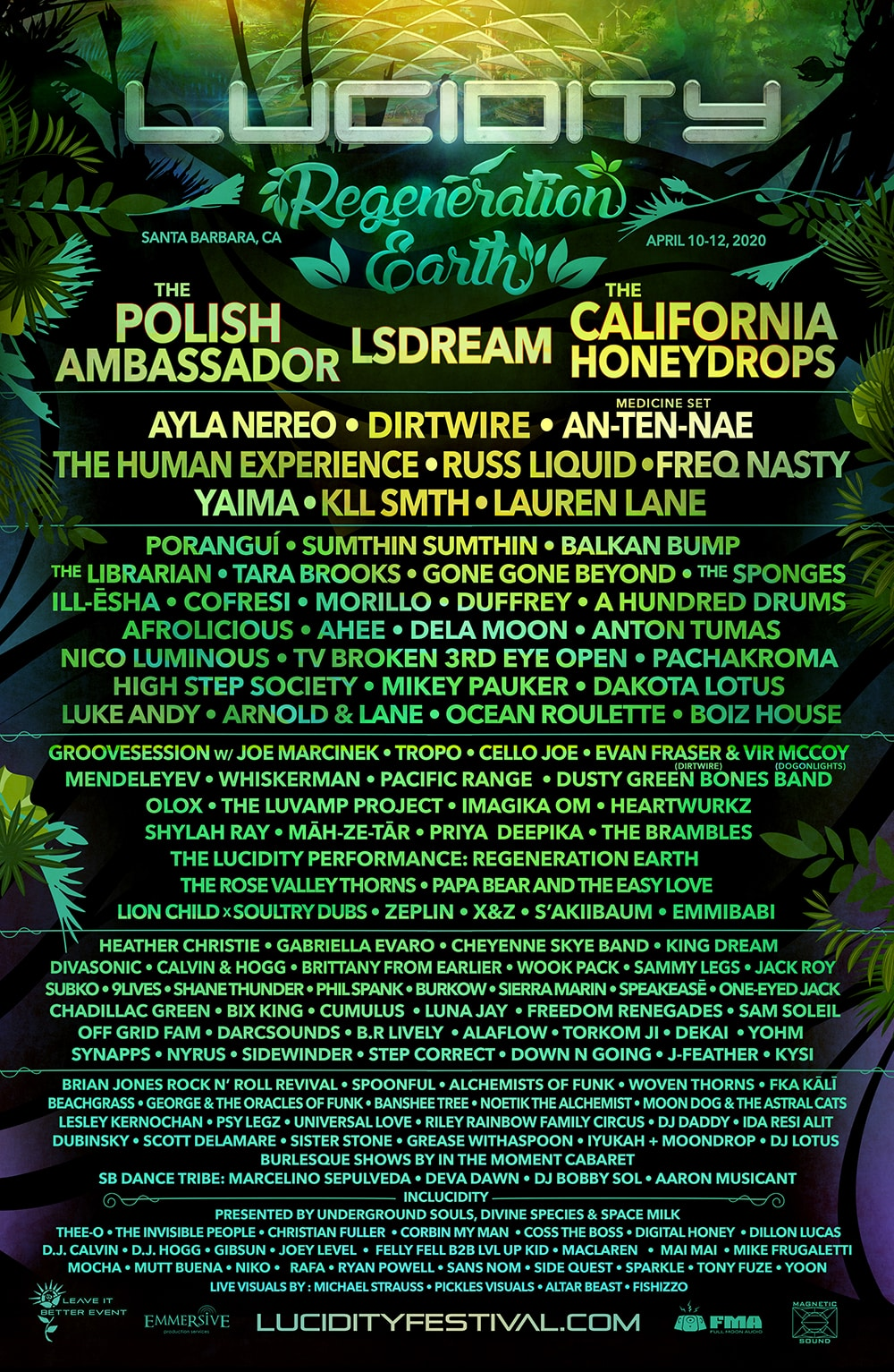 Lucidity Festival Lineup 2020 - Lucidity Festival Reveals 2020 Lineup