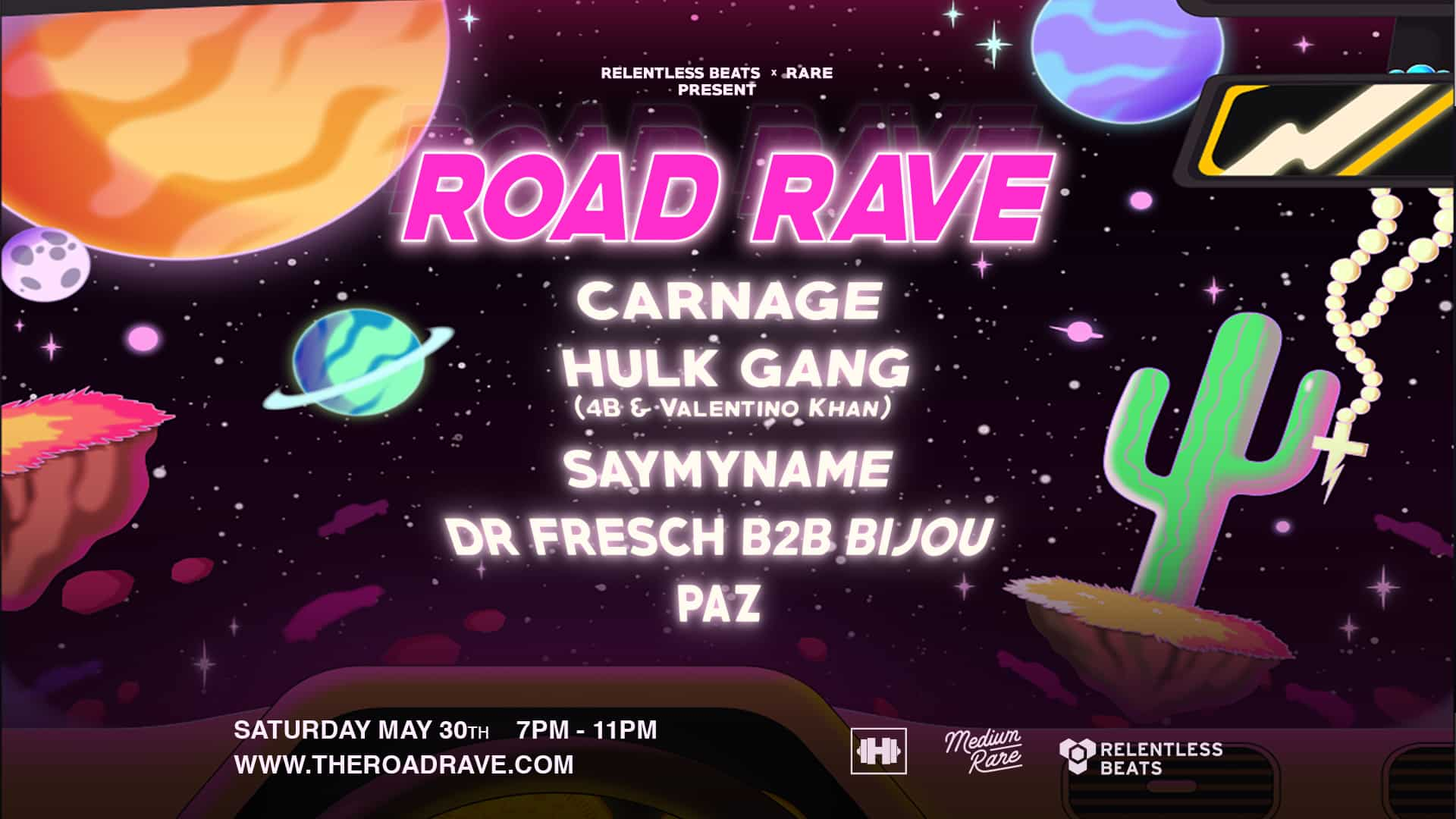 Road Rave Arizona 2020 Lineup