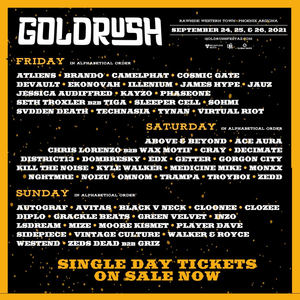 Goldrush 2021 Daily Lineup