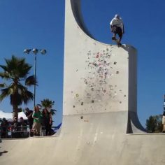 Props to @finnif_skater for trying this insane drop in at Lake Cunningham skate …