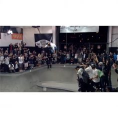 Holy fuck @pedrobarrossk8 just shut down the #VansCombiPool with this massive tr…