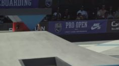 Evan Smith got the crowd hyped with this alley–oop 360 nosegrab for a #9Club at …