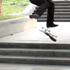 Woah we weren't expecting that from @johndilo #shralpin #skateboards…