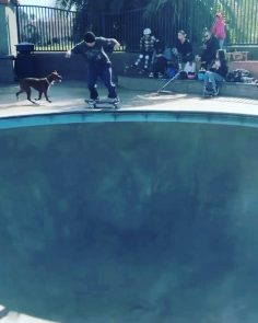 Throwing down in the pool with @chrisrussell_mbk…