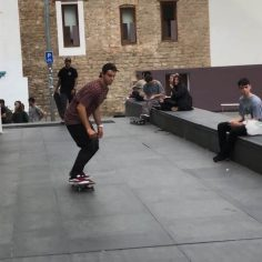Firing line at #MACBA @rogersk8silva  for : @luis_aponte17…