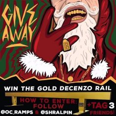 Holiday giveaway‼️ Pairin up with our buds at @oc_ramps for a @ryandecenzo 24k G…