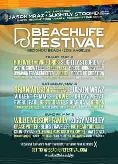 Beachlife Festival Has Added Jason Mraz, Slightly Stoopid, Dawes, Big Head Todd And The Monsters, Tomorrow's Bad Seeds, And Anuhea To Its 2019 Lineup