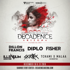 Dillon Francis, Diplo, Fisher, Illenium, Skrillex And Tchami X Malaa Start The Countdown To Decadence Arizona, December 30 & 31, 2019