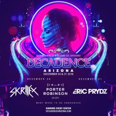 Skrillex, Porter Robinson, Eric Prydz To Close Out The Year With Decadence Arizona