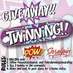 GIVEAWAY   Enter to win a new deck from our friend @powskateboards   To Enter T…