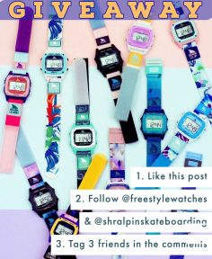 GIVEAWAY  Enter to win any watch you like from our friends @freestylewatches ($…